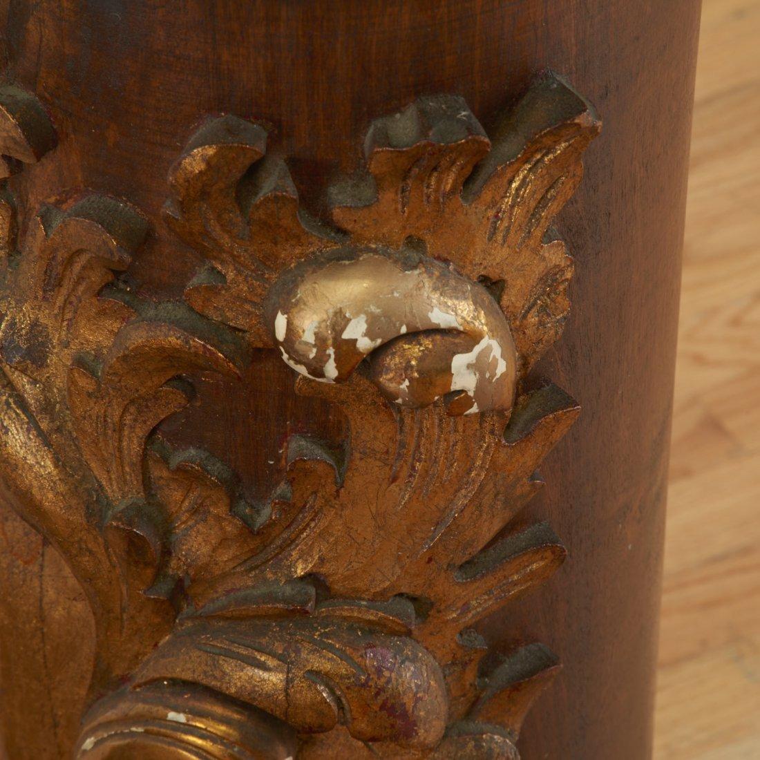 Pair Spanish Rococo parcel gilt wood pedestals - 5