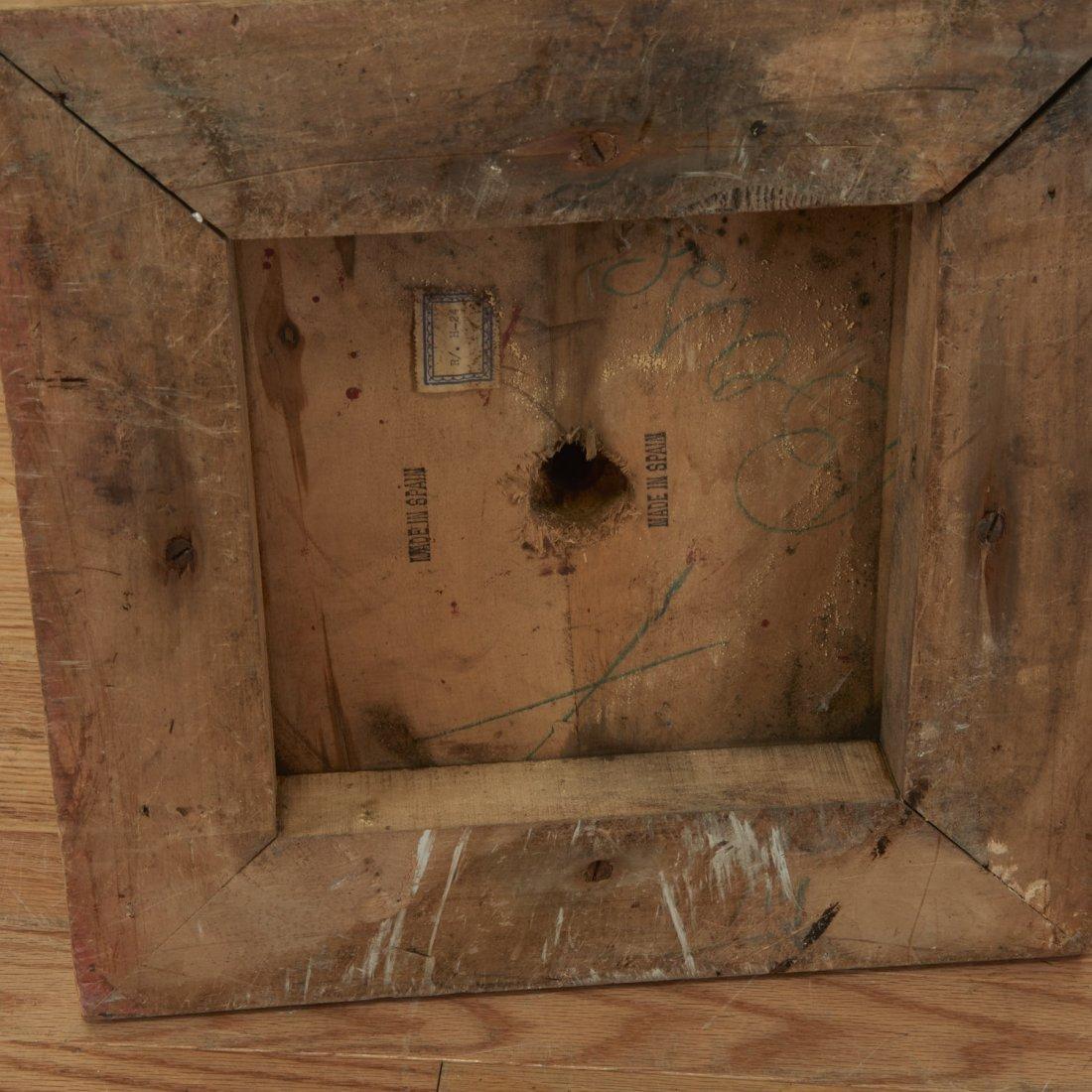 Pair Spanish Rococo parcel gilt wood pedestals - 7