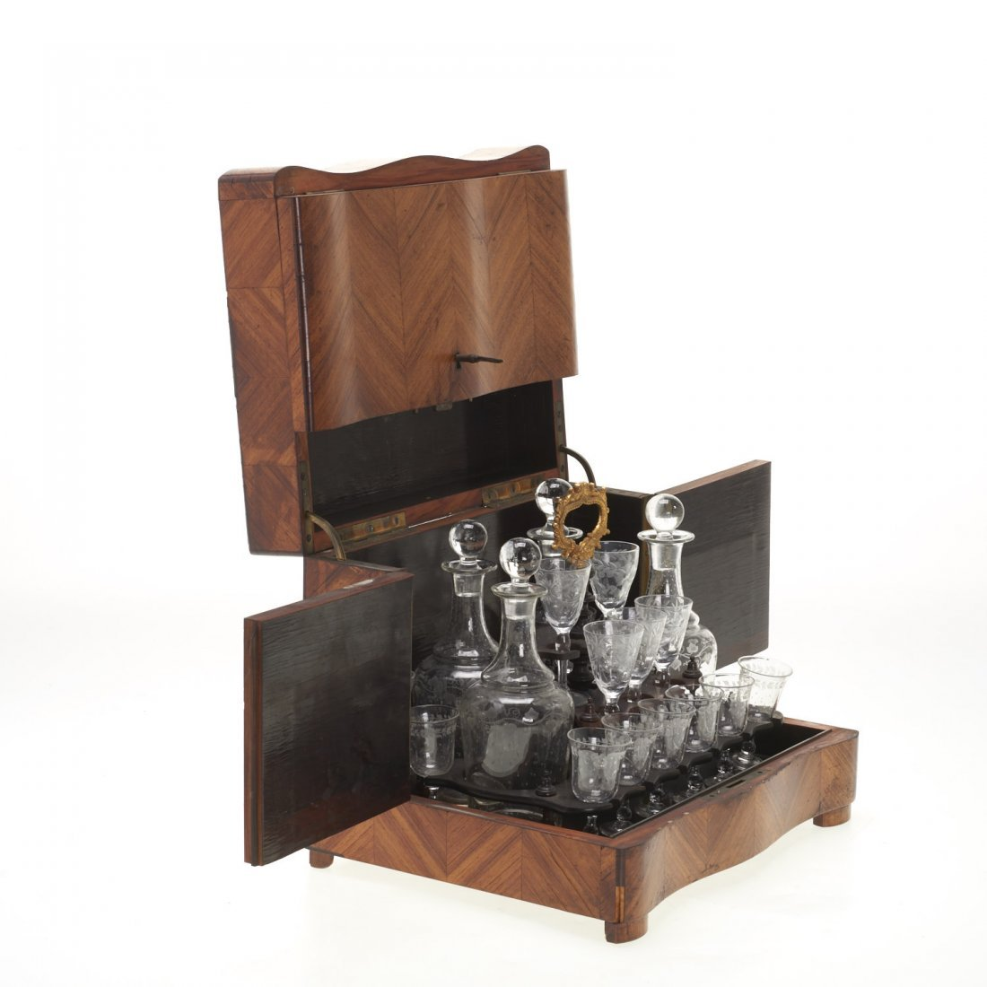 Napoleon III parquetry tantalus - 3
