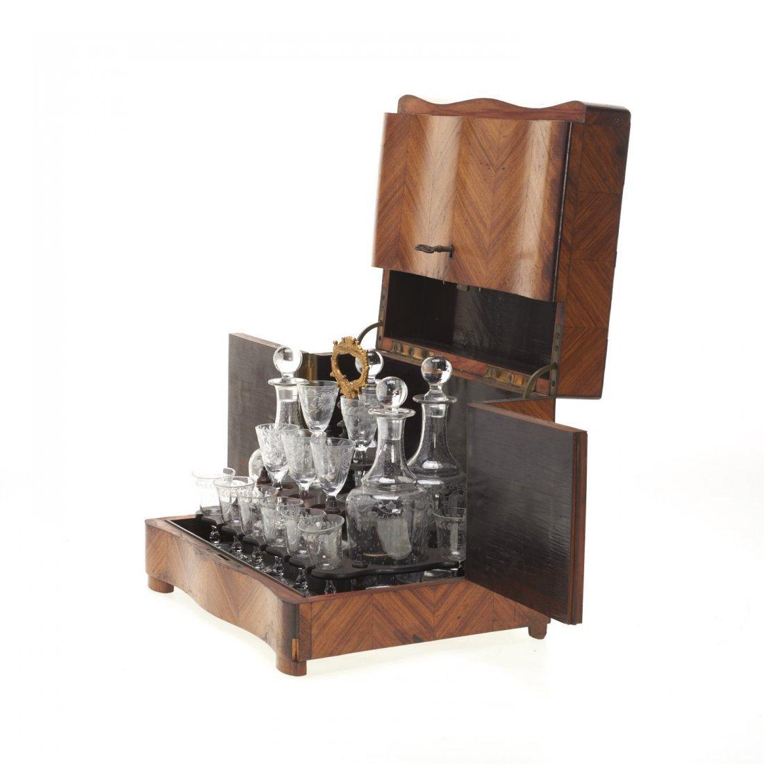 Napoleon III parquetry tantalus - 4