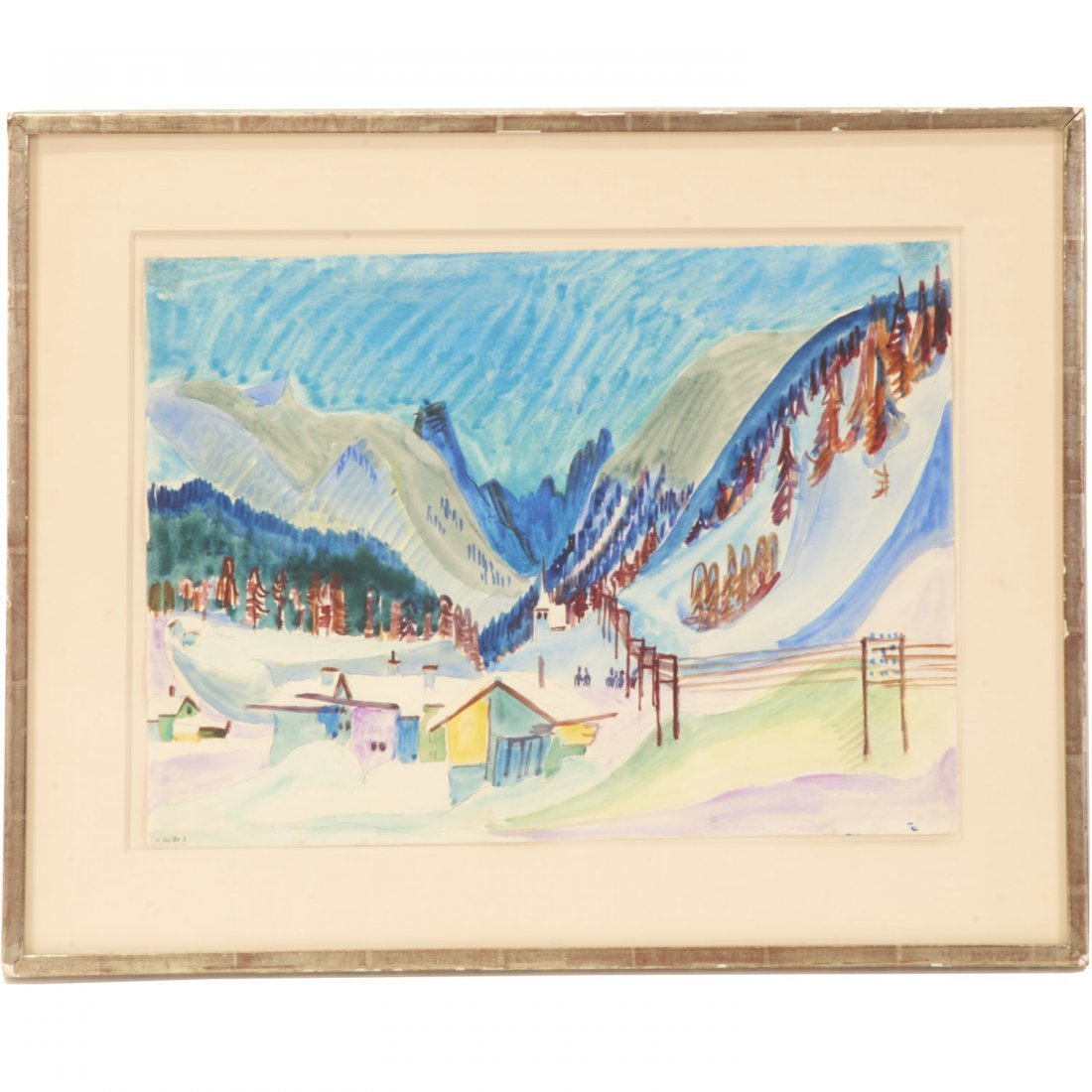 Ernst Ludwig Kirchner, watercolor painting