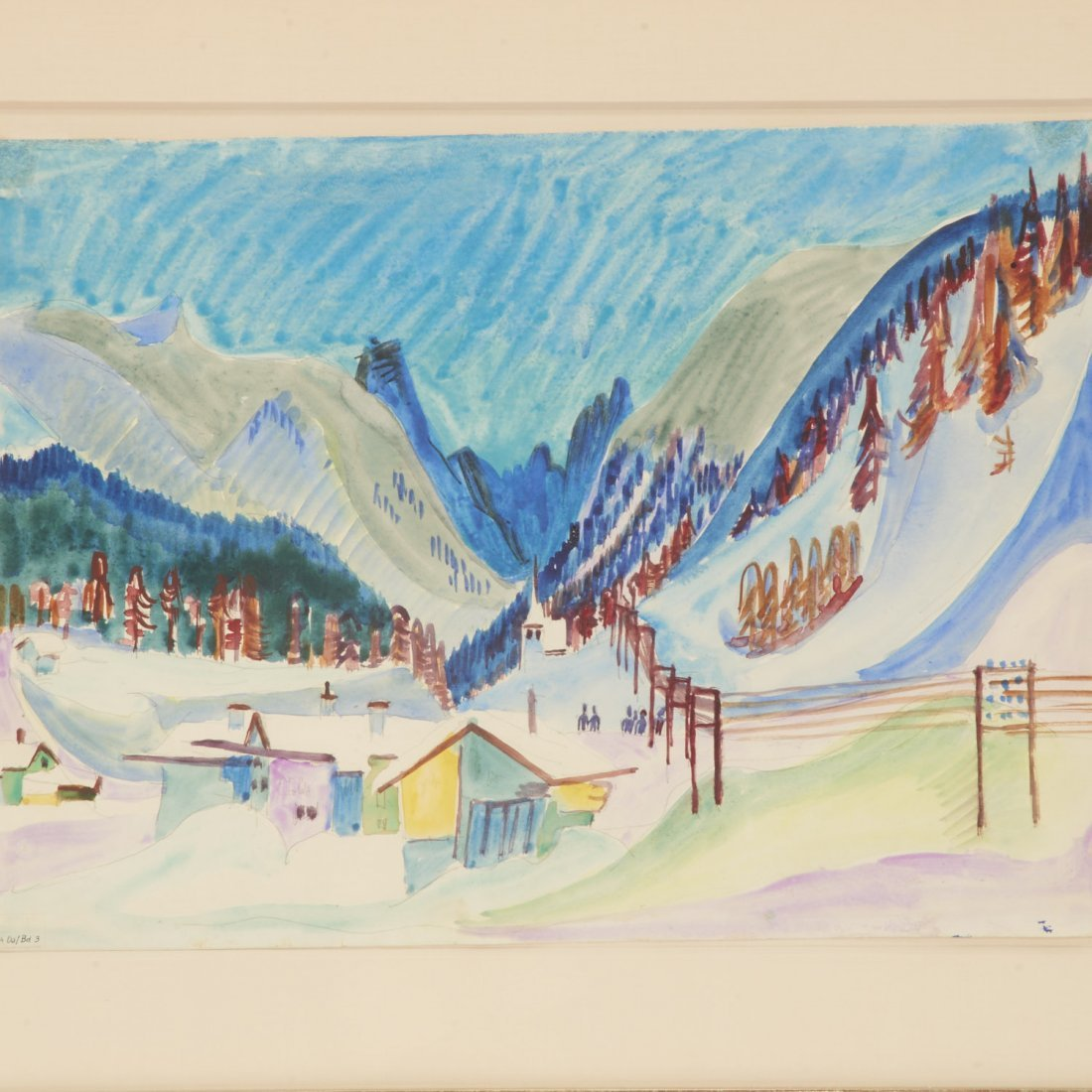 Ernst Ludwig Kirchner, watercolor painting - 2