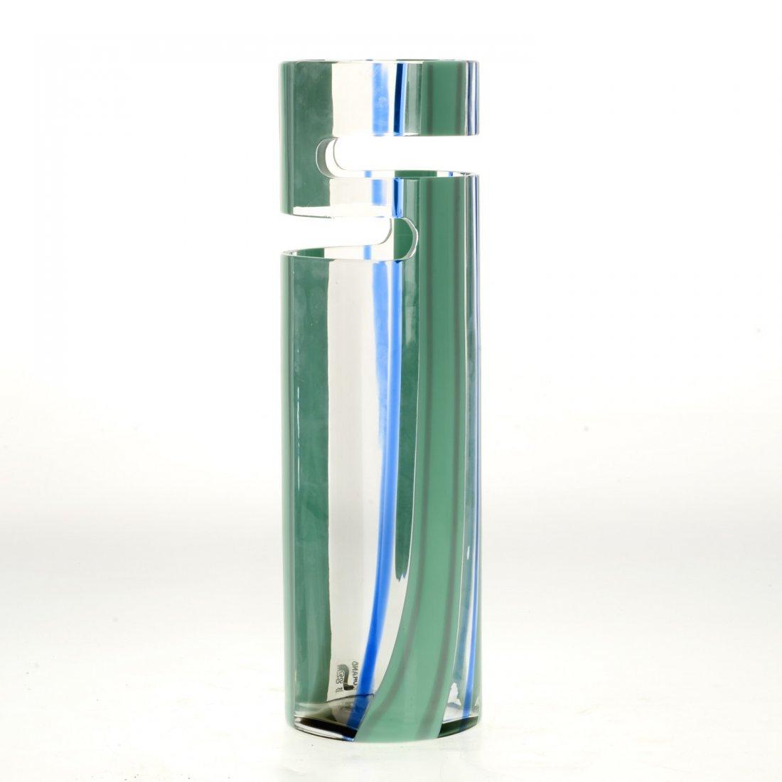 Livio Seguso Murano cut out glass vase