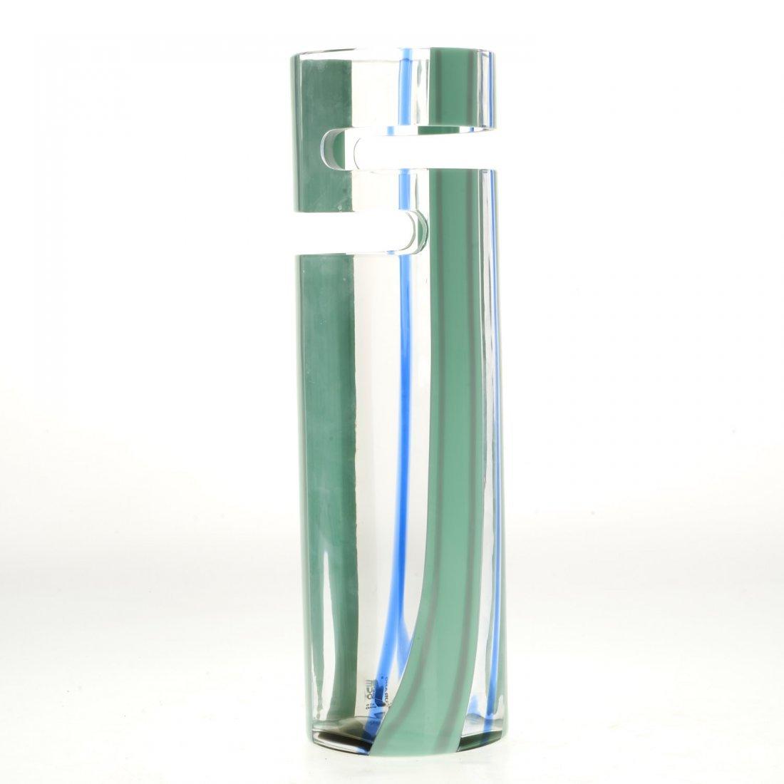 Livio Seguso Murano cut out glass vase - 2