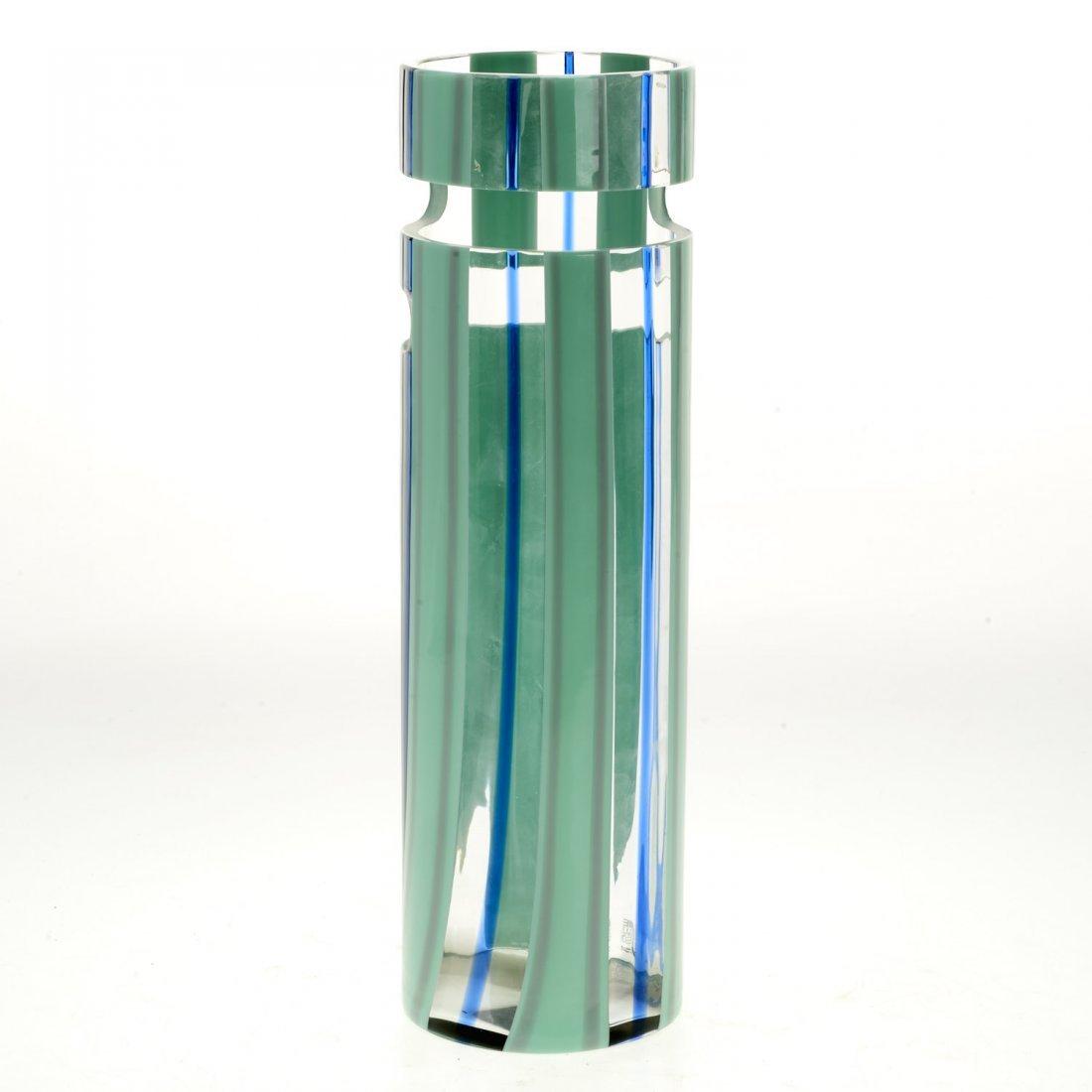 Livio Seguso Murano cut out glass vase - 4