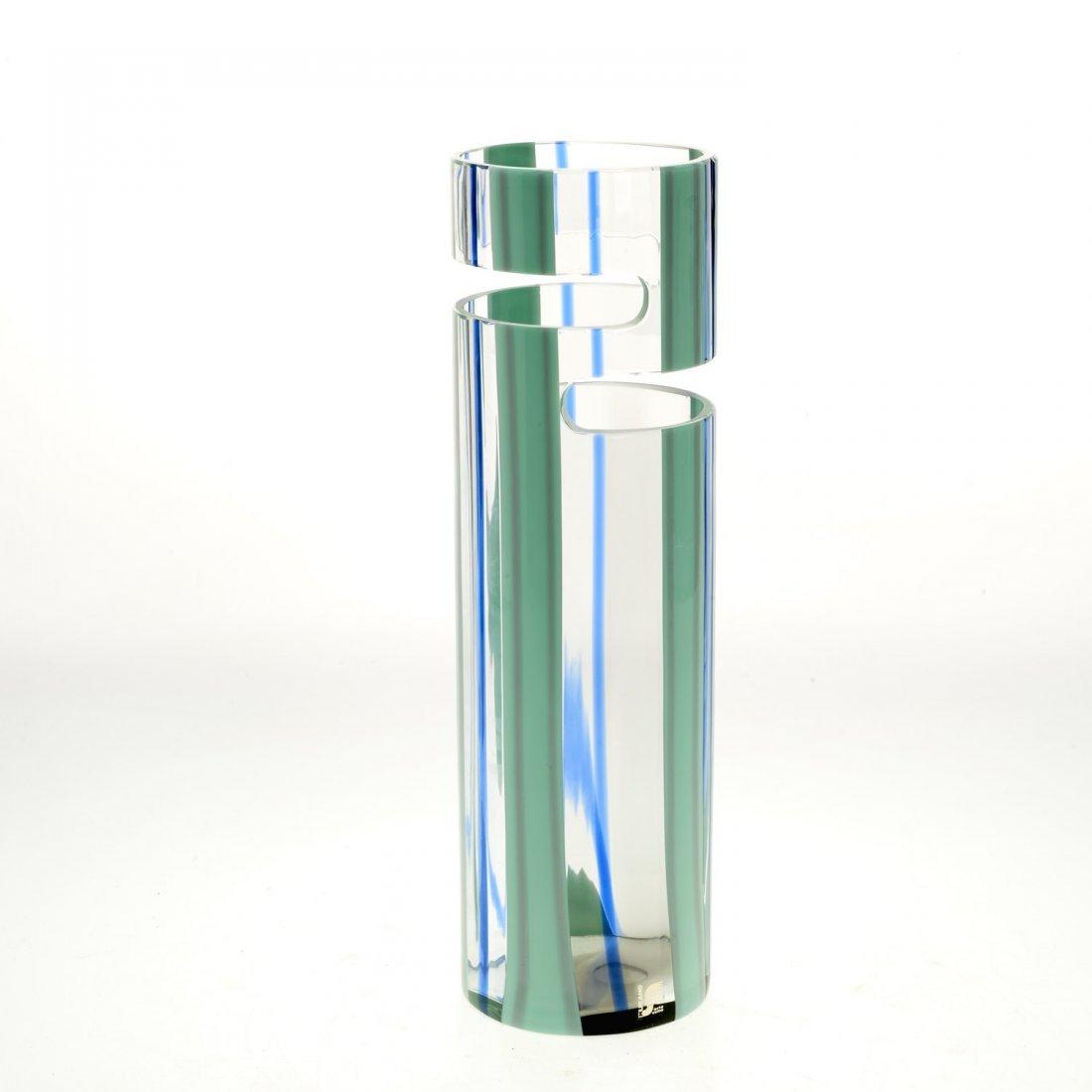 Livio Seguso Murano cut out glass vase - 5