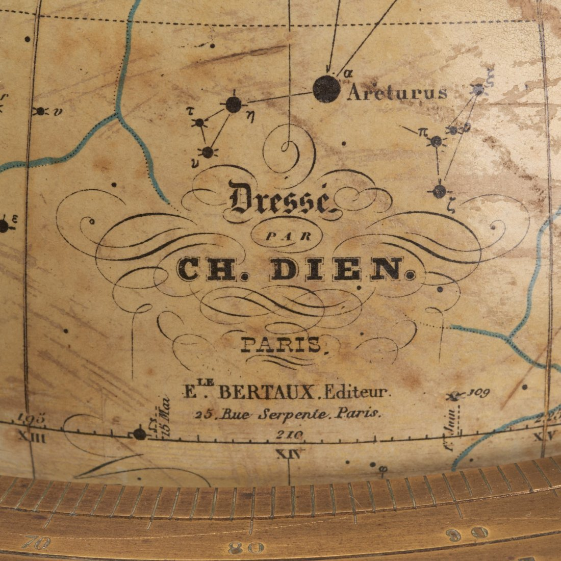 French celestial table globe by Charles Dien - 2