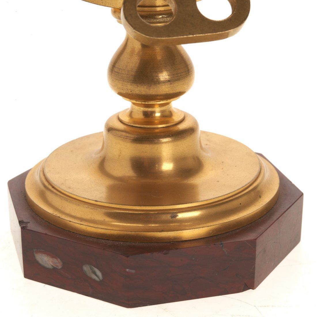 French bronze mounted enameled globe clock - 2