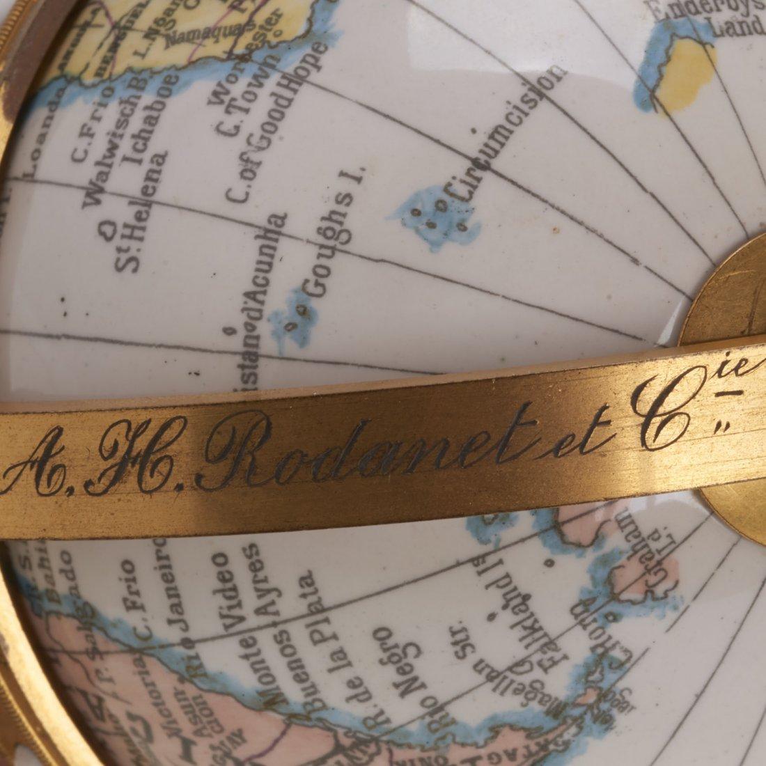 French bronze mounted enameled globe clock - 8