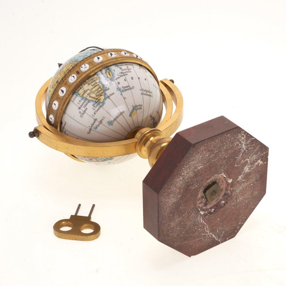 French bronze mounted enameled globe clock - 9