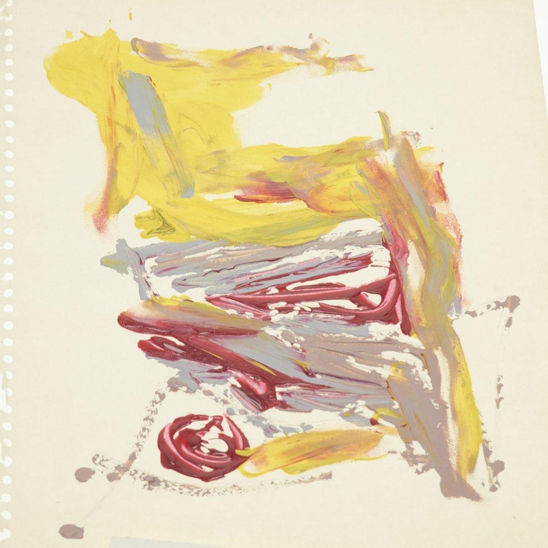 (4) Abstract paintings on paper inc. Piero Dorazio - 2