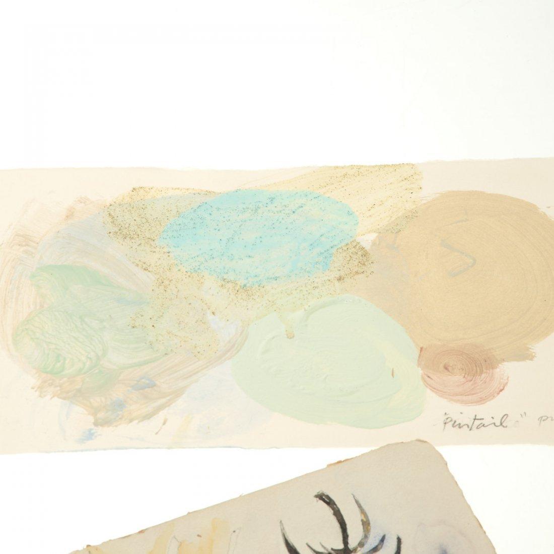 (4) Abstract paintings on paper inc. Piero Dorazio - 3