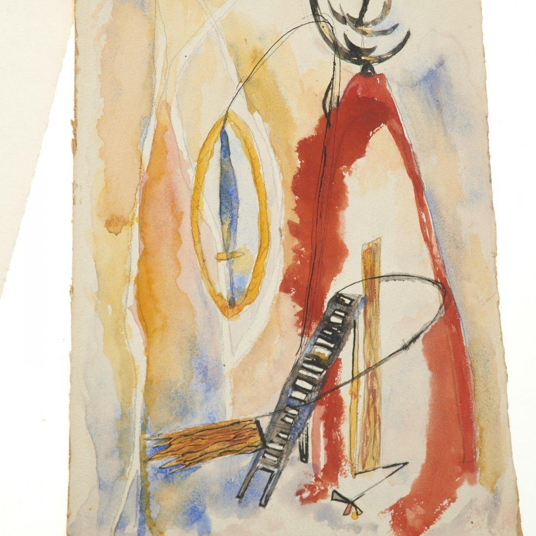 (4) Abstract paintings on paper inc. Piero Dorazio - 4