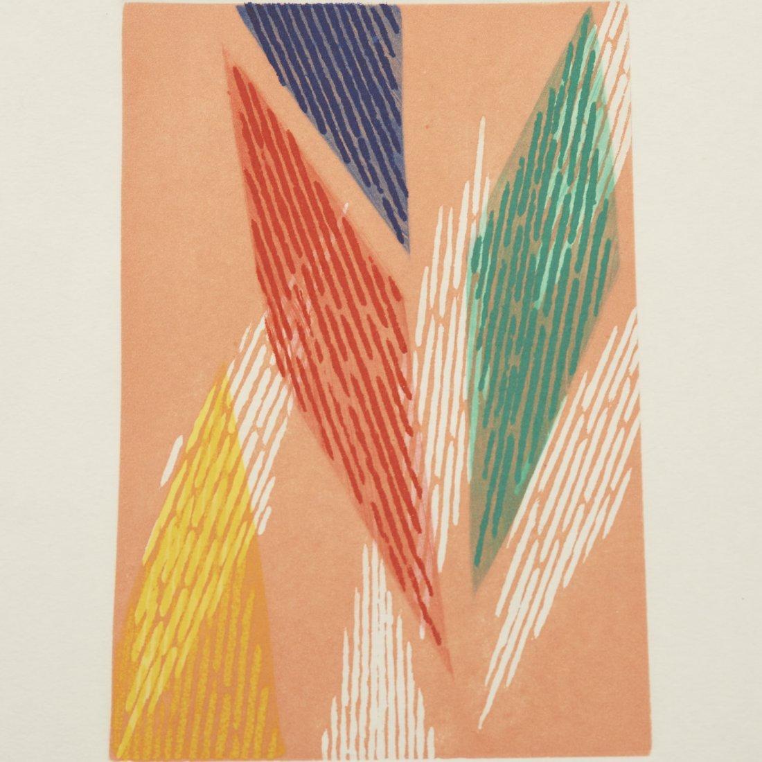 (4) Abstract paintings on paper inc. Piero Dorazio - 5