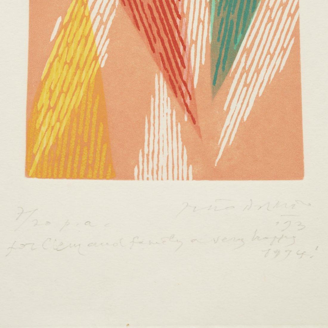 (4) Abstract paintings on paper inc. Piero Dorazio - 6