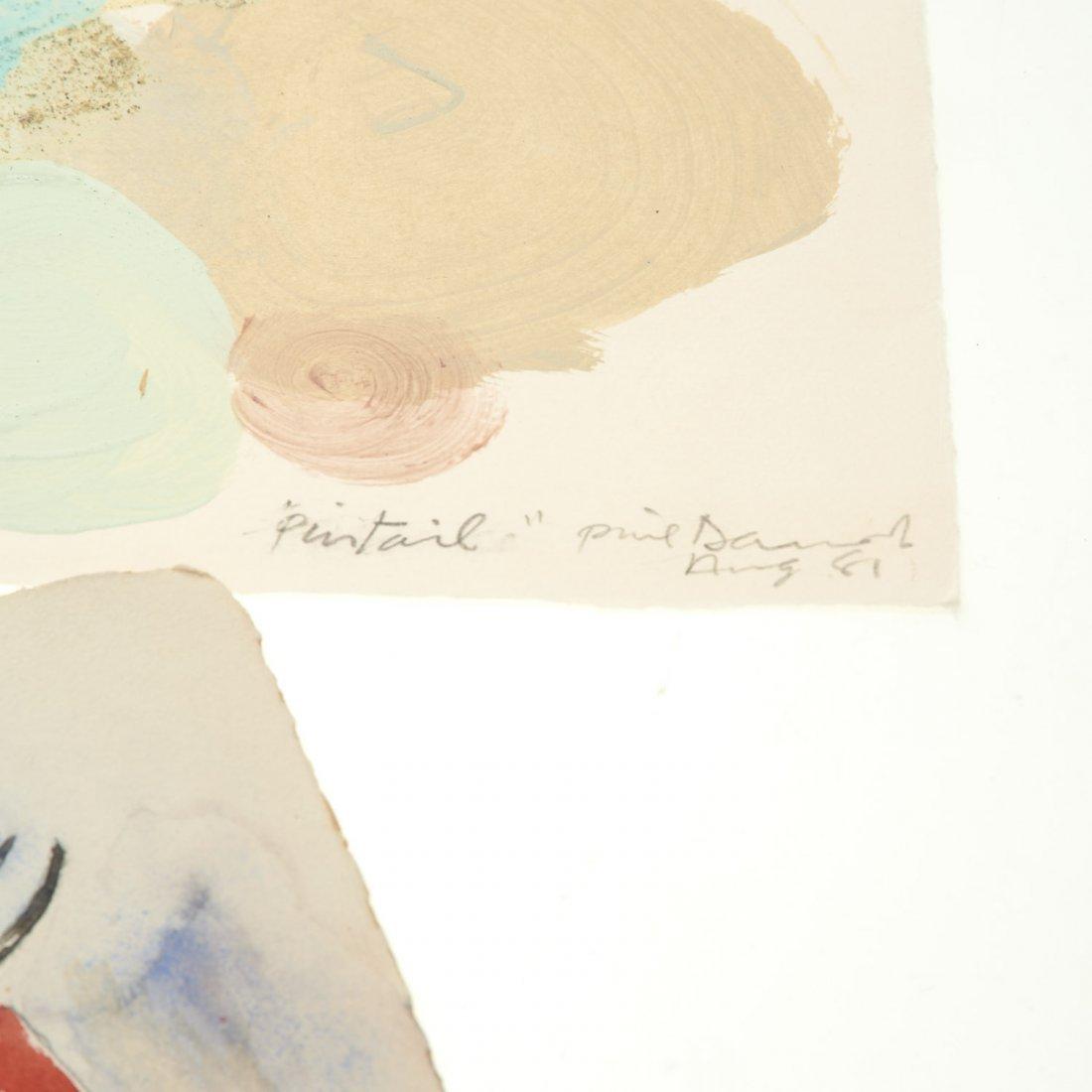 (4) Abstract paintings on paper inc. Piero Dorazio - 7