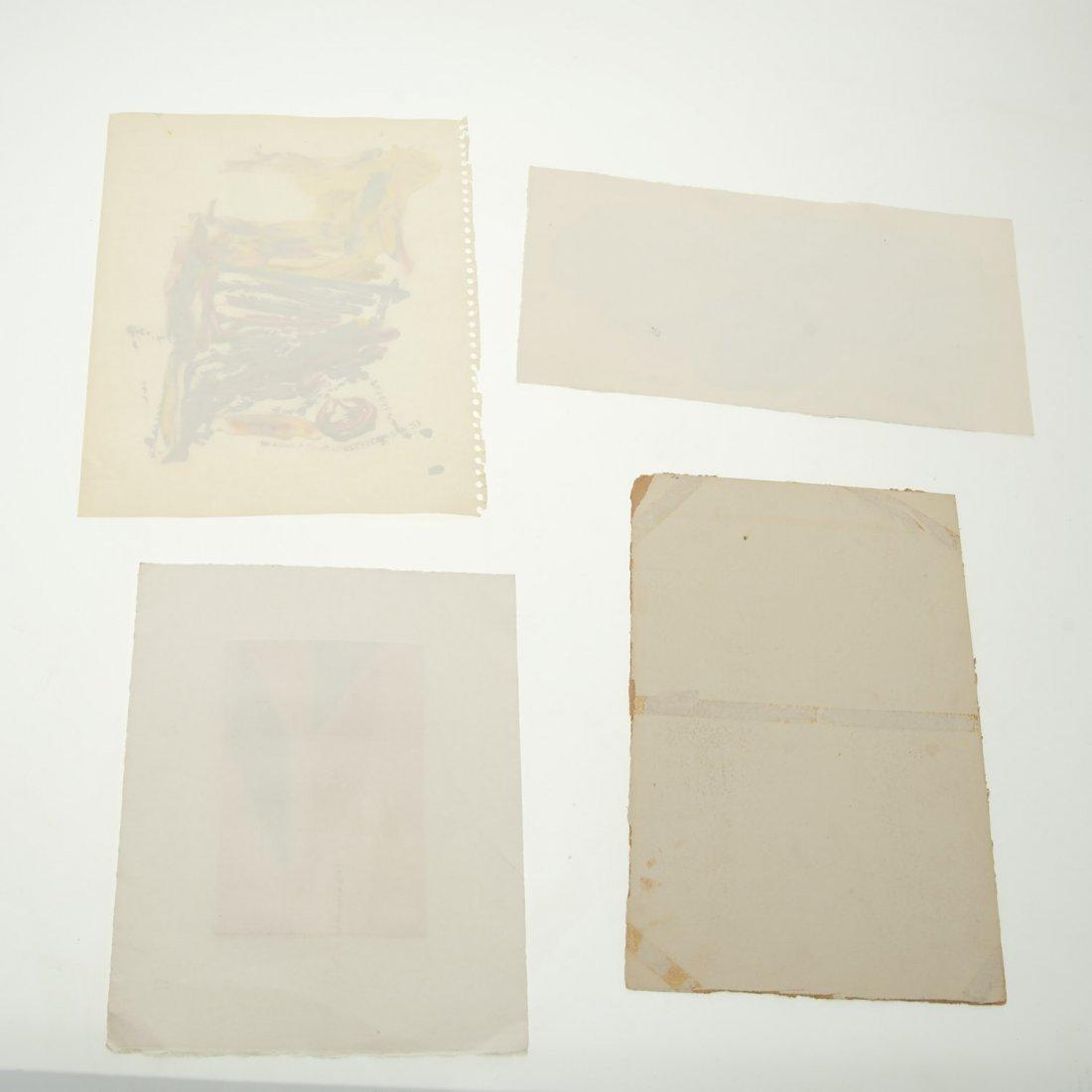 (4) Abstract paintings on paper inc. Piero Dorazio - 8
