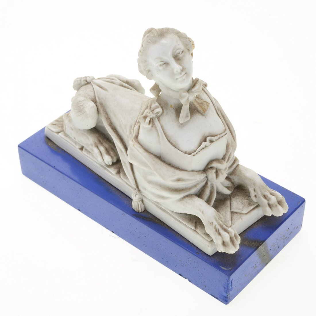French white porcelain animorphic book ends - 2