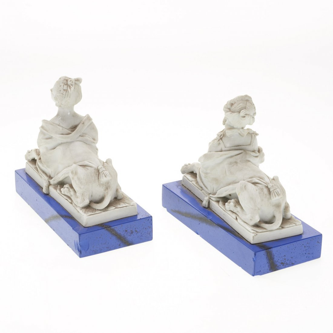 French white porcelain animorphic book ends - 4