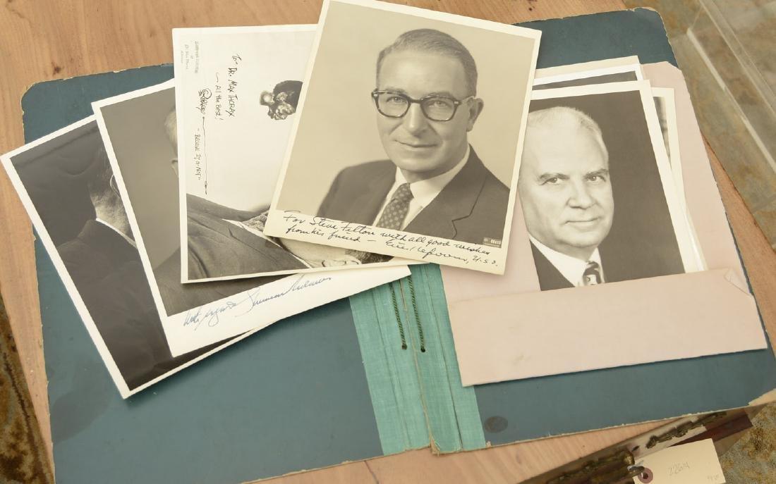 (8) Vintage autographed photos