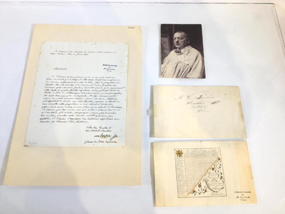 Nice collection artist's autographed letters