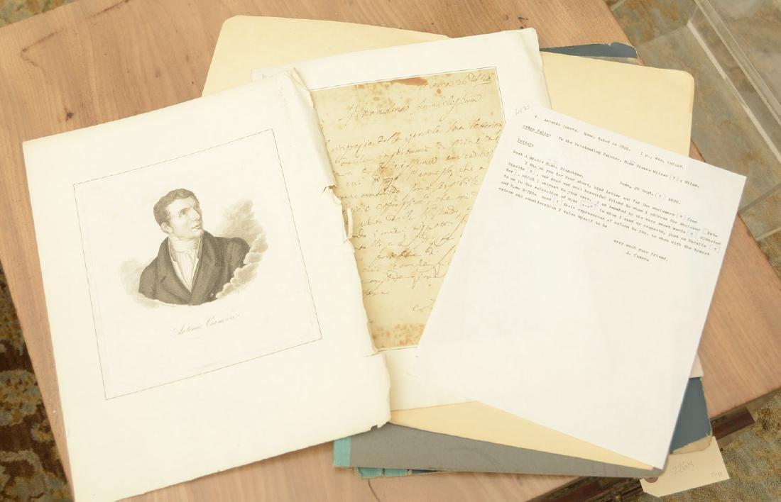 Antonio Canova autographed letter