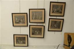 After William Hogarth 6 engravings
