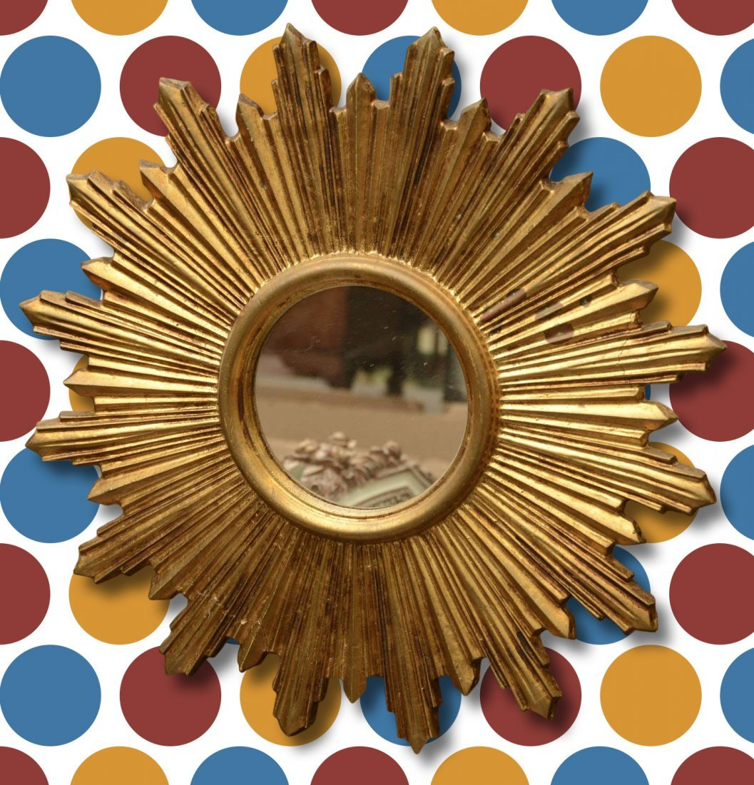 Italian gilt sunburst mirror