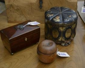 (3) English and Chinese Export tea caddies