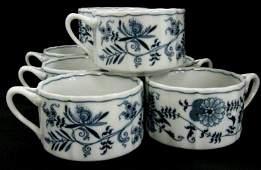 BLUE DANUBE SET OF 8 SOUP MUGS