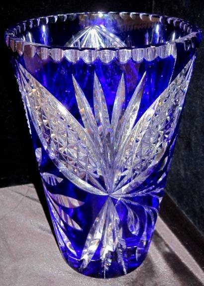 WATERFORD COBALT BLUE CRYSTAL VASE