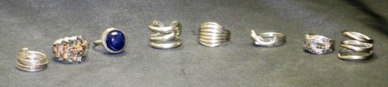 LOT OF 8 STERLING SILVER RINGS