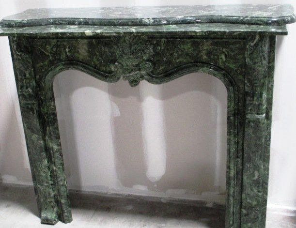 GREEN MARBLE FIREPLACE MANTLE
