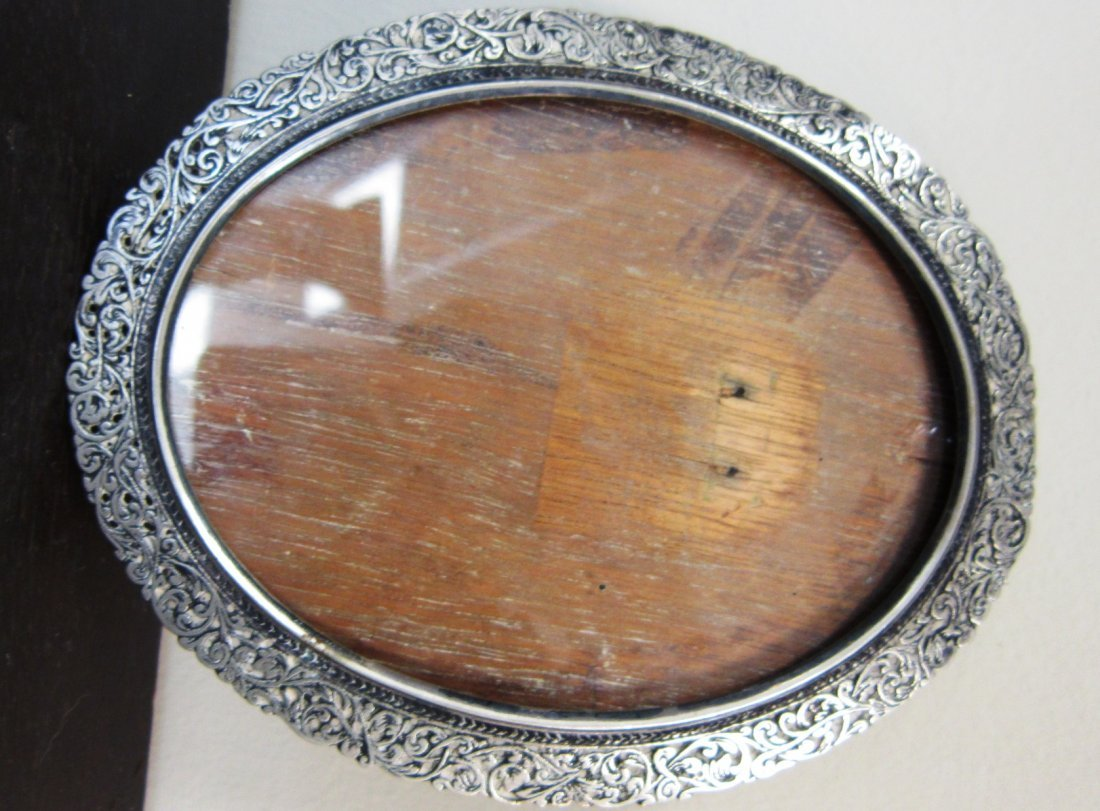 ANTIQUE IMPERIAL RUSSIAN SILVER PICTURE FRAME Measures