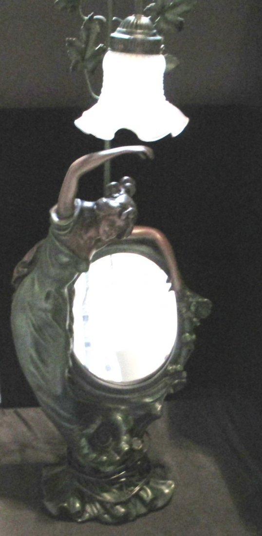 ART DECO LARGE LAMP WITH MIRROR