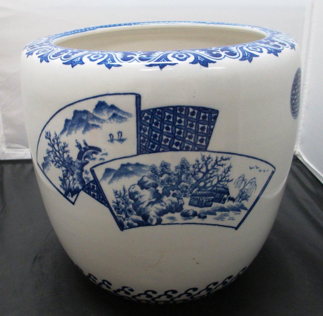 JAPANESE BLUE & WHITE PORCELAIN VASE Blue and White