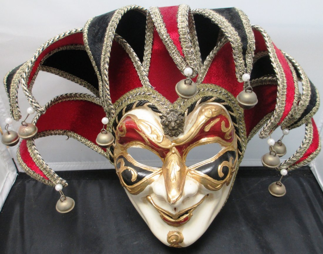 VENETIAN HAND PAINTED MASQUERADE WOMAN'S MASK Full Face