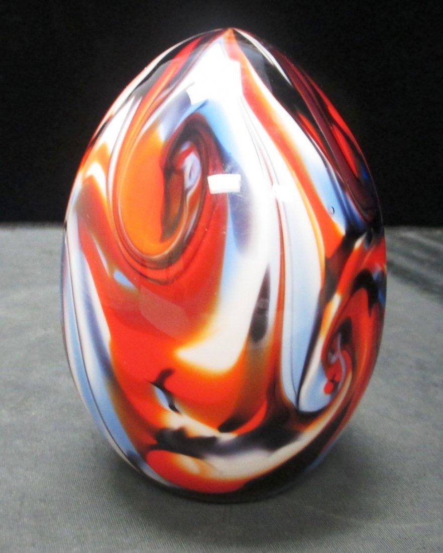 FENTON SWIRL GLASS EGG  VERY RARE