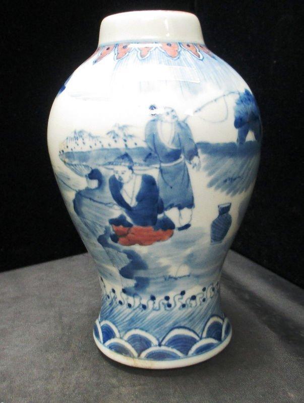 CHINESE PORCELAIN BLUE AND WHITE VASE