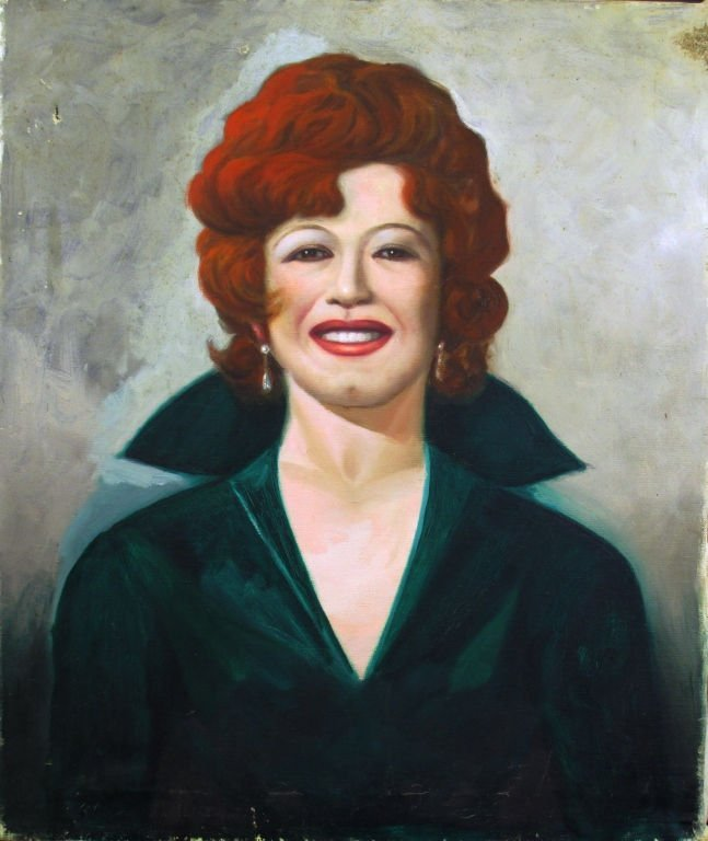 OIL ON CANVAS  DEPICTING  A  WOMAN