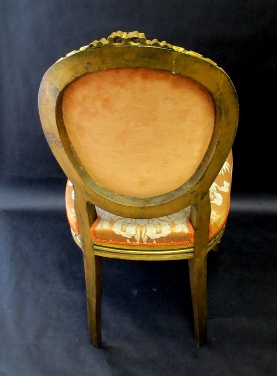 PR FRENCH ORIGINAL ANTIQUE  LOUIS 14TH SIDE CHAIRS - 2