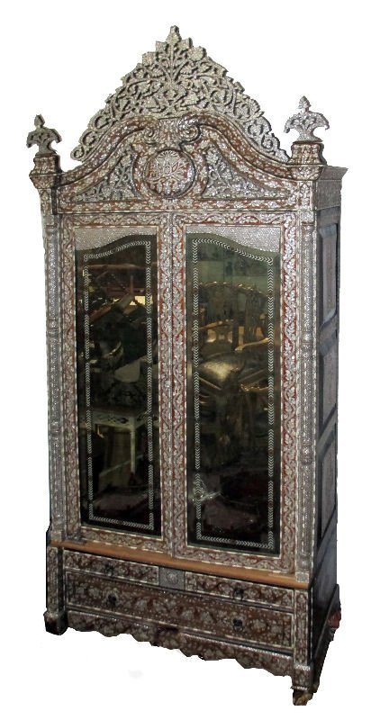19TH CENTURY FRENCH MOTHER OF PEARL ARMOIRE