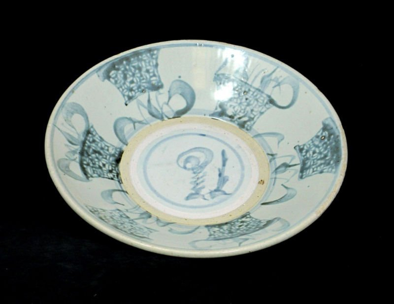 CHINESE MING DYNASTY BLUE PORCELAIN BOWL