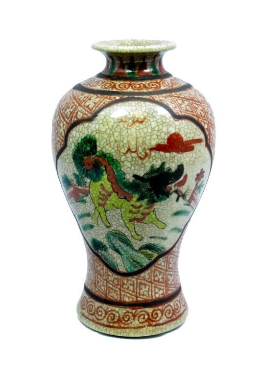 CHINESE 18TH CENTURY CHIEN LUNG PORCELAIN VASE