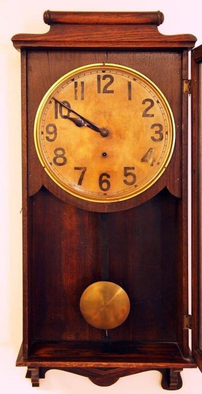 ANTIQUE OAK NEW HEAVEN REGULATOR CLOCK