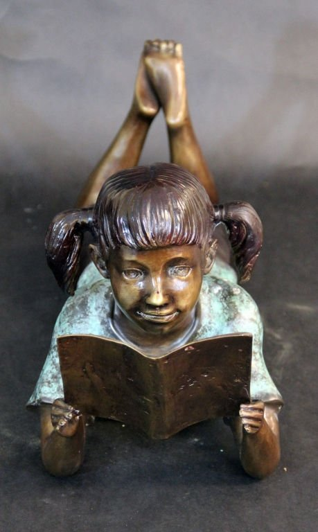 """BRONZE STATUE TITLED """" GIRL ON STOMACH"""""""