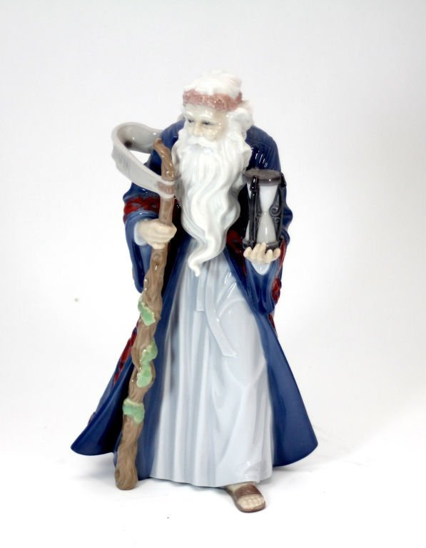 "LLADRO PORCELAIN FIGURE: ""fFATHER TIME"" RETIRED"