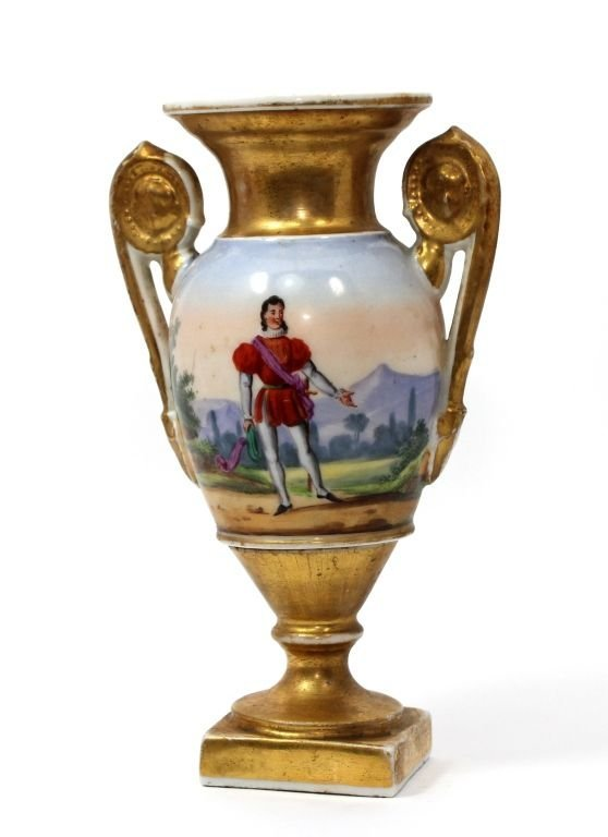 19TH CENTURY OLD PARIS PORCELAIN GILT URN