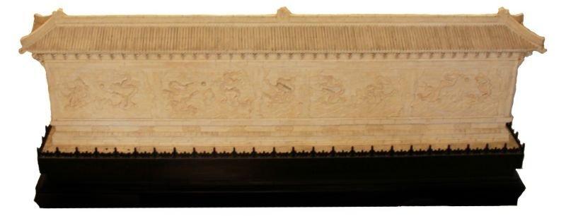 PALATIAL CHINESE CARVED BONE DRAGON WALL