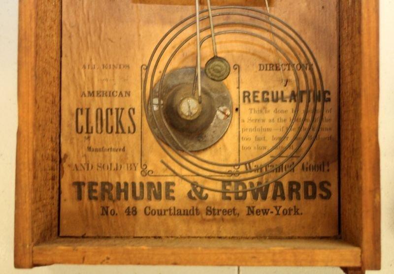 ANTIQUE TERHUNE & EDWARDS IRON FRONT MANTLE CLOCK - 10